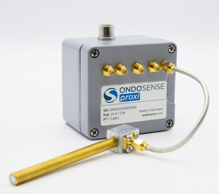 The OndoSense proxi radar detects metallic objects within plastics with micrometer precision